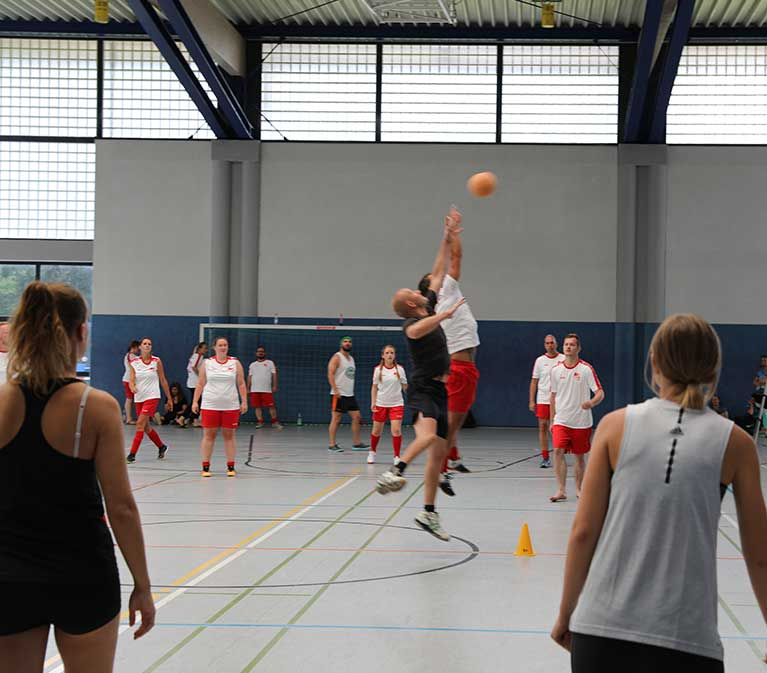 Das Team Handball in Aktion